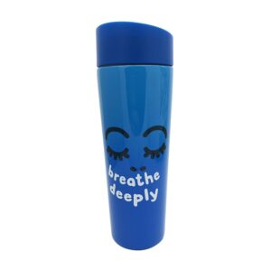 THERMOS CLICK AND DRINK 360 ML BLU CON SCATOLA